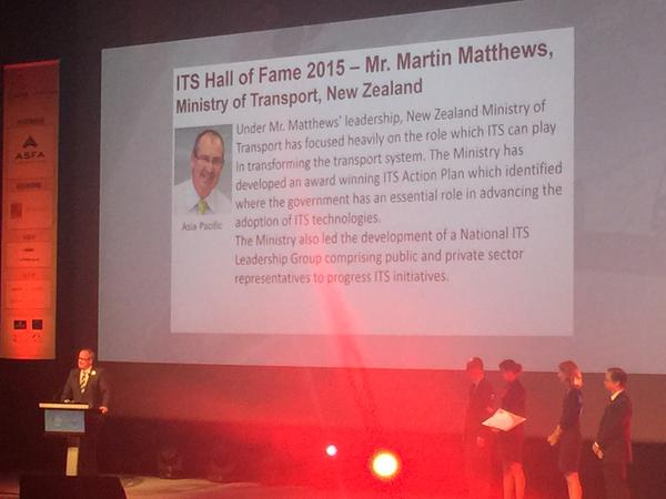 Martin Matthews ITS Hall of Fame achievement